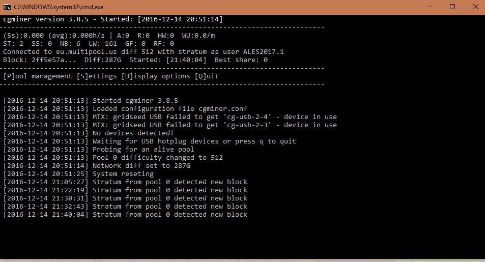 نرم افزار استخراج بیت کوین CGminer