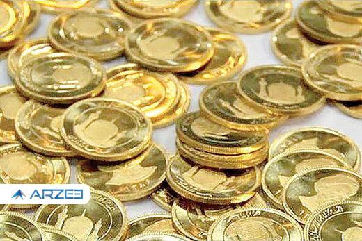 کاهش یکصد هزار تومانی قیمت سکه در بازار
