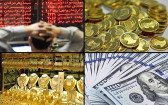 قیمت لحظه ای سکه، طلا، دلار، بیت کوین و شاخص بورس