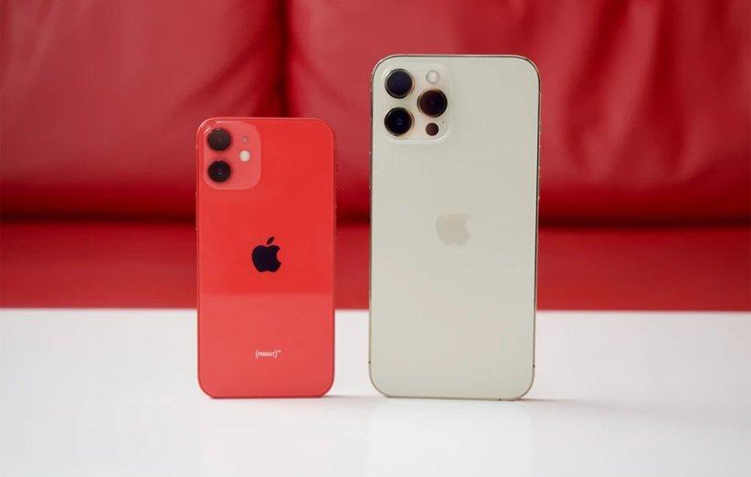 گوشی اپل آیفون 12 مینی قرمز و آیفون 12 پرو مکس