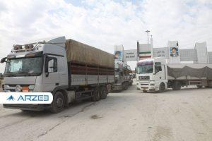 صادرات روزانه ۴۰۰ کامیون کالای صادراتی از مرز پرویزخان به عراق