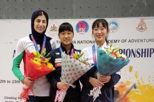 نایب قهرمانی «محیا دارابیان» در سنگنوردی قهرمانی جوانان جهان
