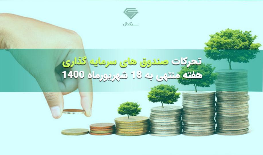 تحرکات صندوق های سرمایه گذاری | هفته منتهی به 18 شهریورماه 1400