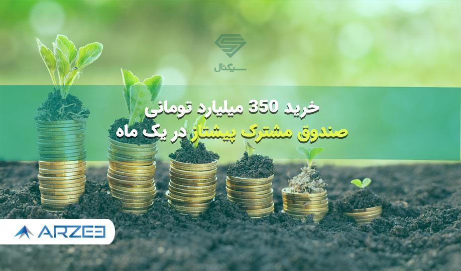 خرید 350 میلیارد تومانی صندوق مشترک پیشتاز در یک ماه!