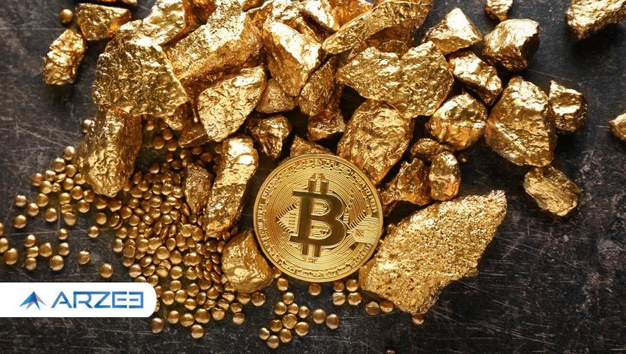 ارزش بازار بیت کوین حالا ۱۰ درصد از ارزش بازار طلا است